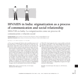 HIV/AIDS in India: stigmatization as a process of