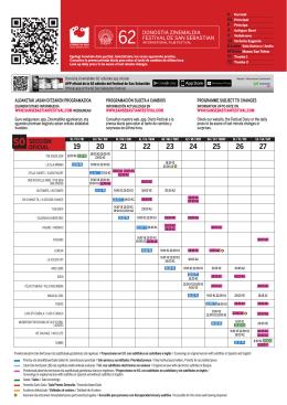 Programa 2014 - Festival Internacional de cine de San Sebastián