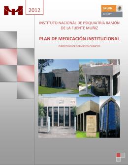 plan de medicación institucional - Instituto Nacional de Psiquiatría