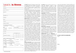 Formulario Tarjeta Cliente la Sirena en formato PDF