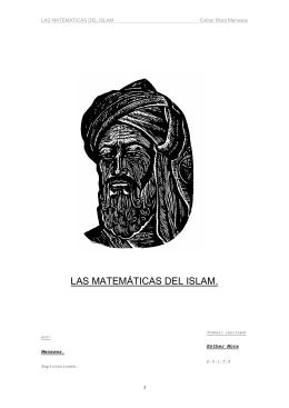LAS MATEMÁTICAS DEL ISLAM.