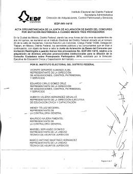 ÓIEDF - Instituto Electoral del Distrito Federal