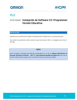 Actividad: Instalación de Software CX-Programmer Versión