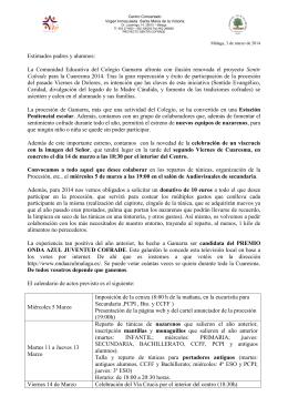 Sentir Cofrade - Cuaresma 2014