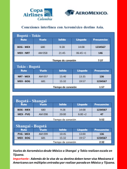 Bogotá - Shangai Shangai - Bogotá