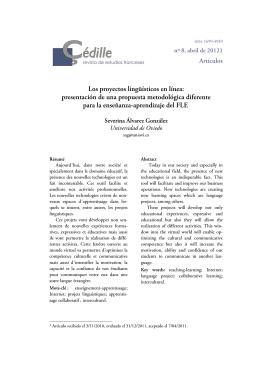 Severina Álvarez González - Çédille, revista de estudios franceses