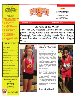 Students of the Month Shiva Bar Zvi, Makenzie Carlsen, Peyton