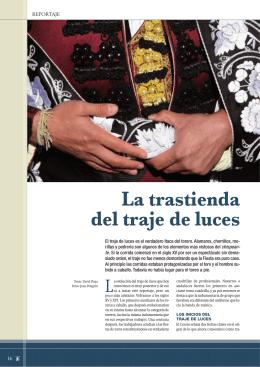Reportaje: La trastienda del traje de luces