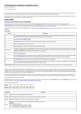 Provisionamiento de configuración a dispositivos móviles Sección