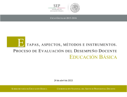 Etapas, Aspectos, Métodos e Instrumentos