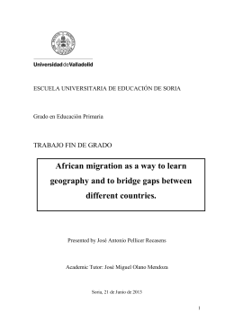 African migration as a way to learn geography and to