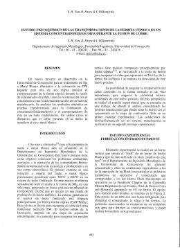Y. H. Fan, R. Parra & f. Wilkomirsky ESTUDIO FISJCOQUíMICO DE