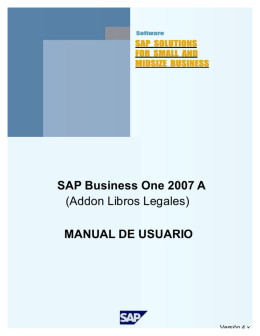 Libros Legales SAP Business One (Chile)