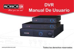 DVR Manual De Usuario