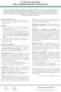 CONVOCATORIA_BECA DE TRANSPORTE