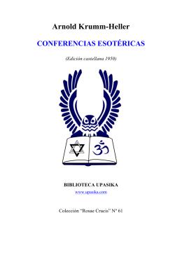 Krumm Heller - Conferencias Esotericas