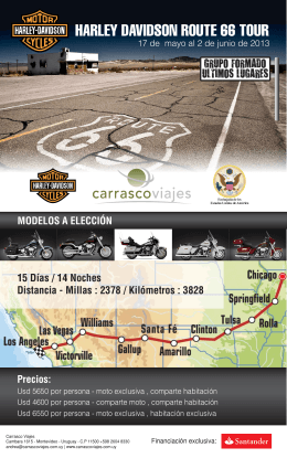 HARLEY DAVIDSON ROUTE 66 TOUR
