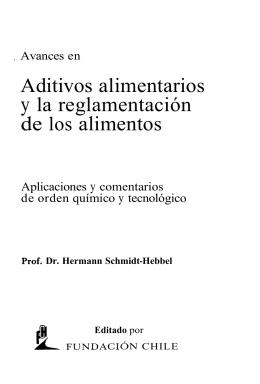 Aditivos alimentarios y la reglamentación de los alimentos