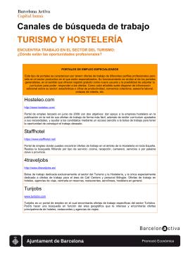 Canales de búsqueda de trabajo TURISMO Y