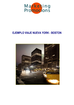 Ejemplo Viaje Nueva York