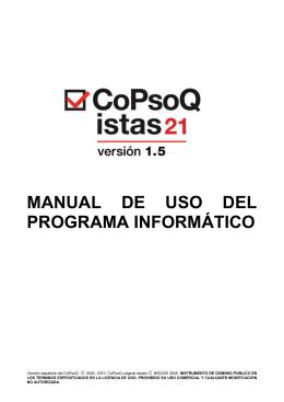 MANUAL DE USO DEL PROGRAMA INFORMÁTICO