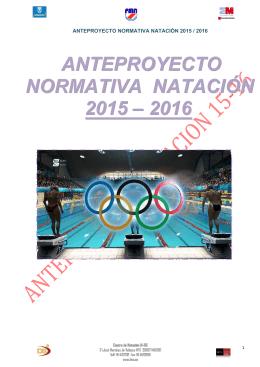 anteproyecto normativa natación 2015 – 2016