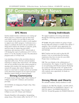 SFC News Strong Community Strong Individuals Strong Minds and