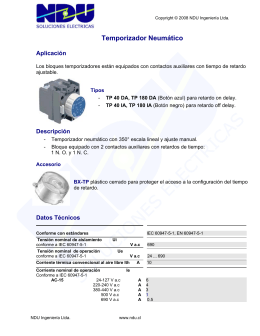Temporizador Neumático