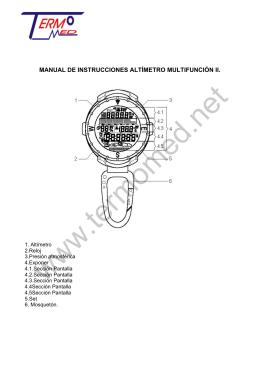manual de instrucciones altímetro multifunción ii.