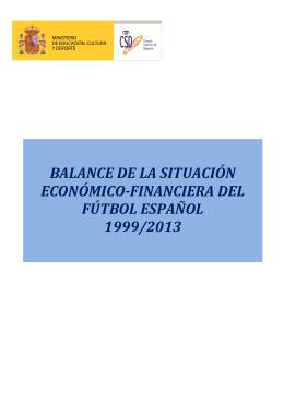 balance económico del fútbol español