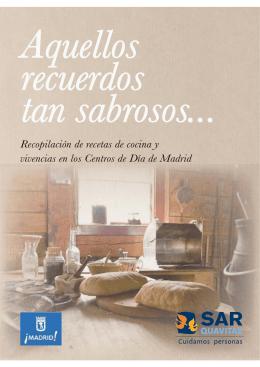 Recopilación de recetas de cocina y vivencias en los Centros de