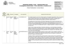 Resumen CV y correos electrónicos. Ciencias básicas