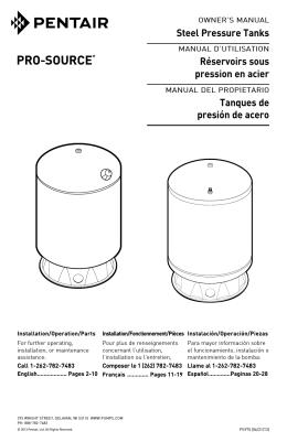 Steel Pressure Tanks Réservoirs sous pression en acier - Sta-Rite