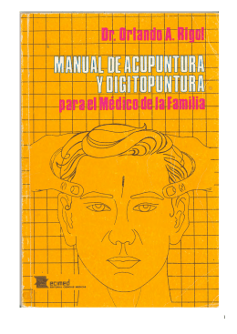 Manual de Acupuntura y Digitopuntura