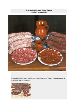 Chorizo Criollo y de Cerdo Casero receta y preparación