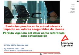 Presentacion Foro Adara - American Appraisal