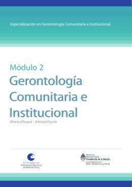 Gerontología Comunitaria e Institucional