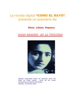 """La revista digital """"COMO EL RAYO"""", presenta un poemario de"""