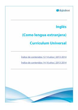 Inglés (Como lengua extranjera) Currículum Universal