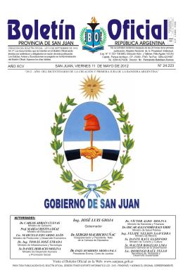 Ing. JOSÉ LUIS GIOJA - Gobierno de la Provincia de San Juan