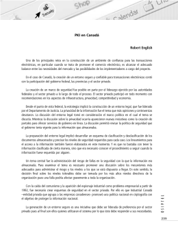 PKI en Canadá Robert English