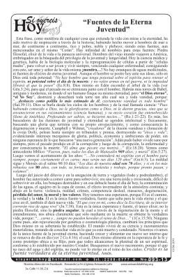 """""""Fuentes de la Eterna Juventud"""""""