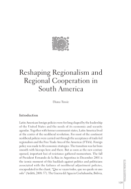 Reshaping Regionalism and Regional Cooperation in