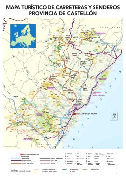 mapa turístico de carreteras y senderos provincia