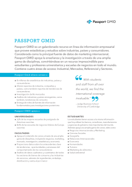 PASSPORT GMID - Biblioteca Central