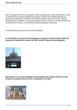 Paris, Cuidad de la Luz