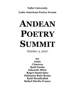 ANDEAN POETRY SUMMIT