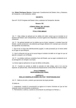 Campeche - Código Penal