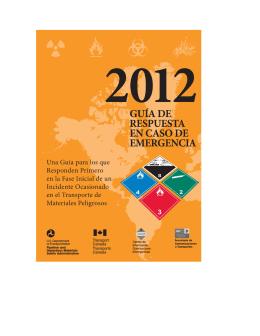 Guia de Respuesta a Emergencias 2012