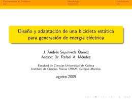 Diseño y adaptación de una bicicleta estática para